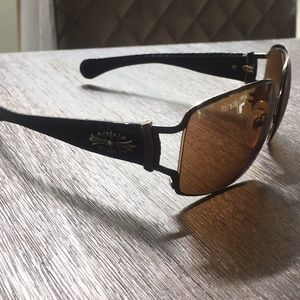 Chrome Hearts Poon 1 Sunglasses Leather brown